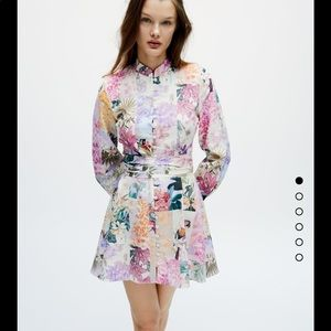 NWT floral button down patchwork dress